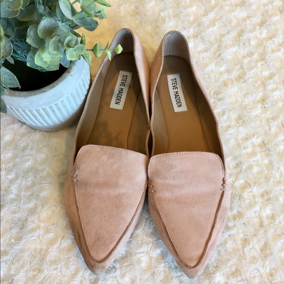 74259fc6854b Steve Madden Pink Feather Rose Suede Flat Shoes. M_5afc651546aa7c986f427ea6